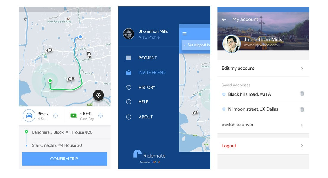 Ridemate - Ridesharing iOS App Template