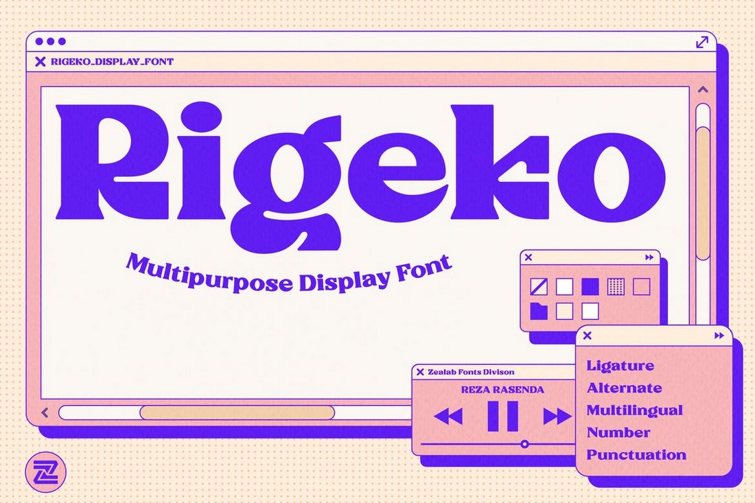 Rigeko - Creative Retro Font