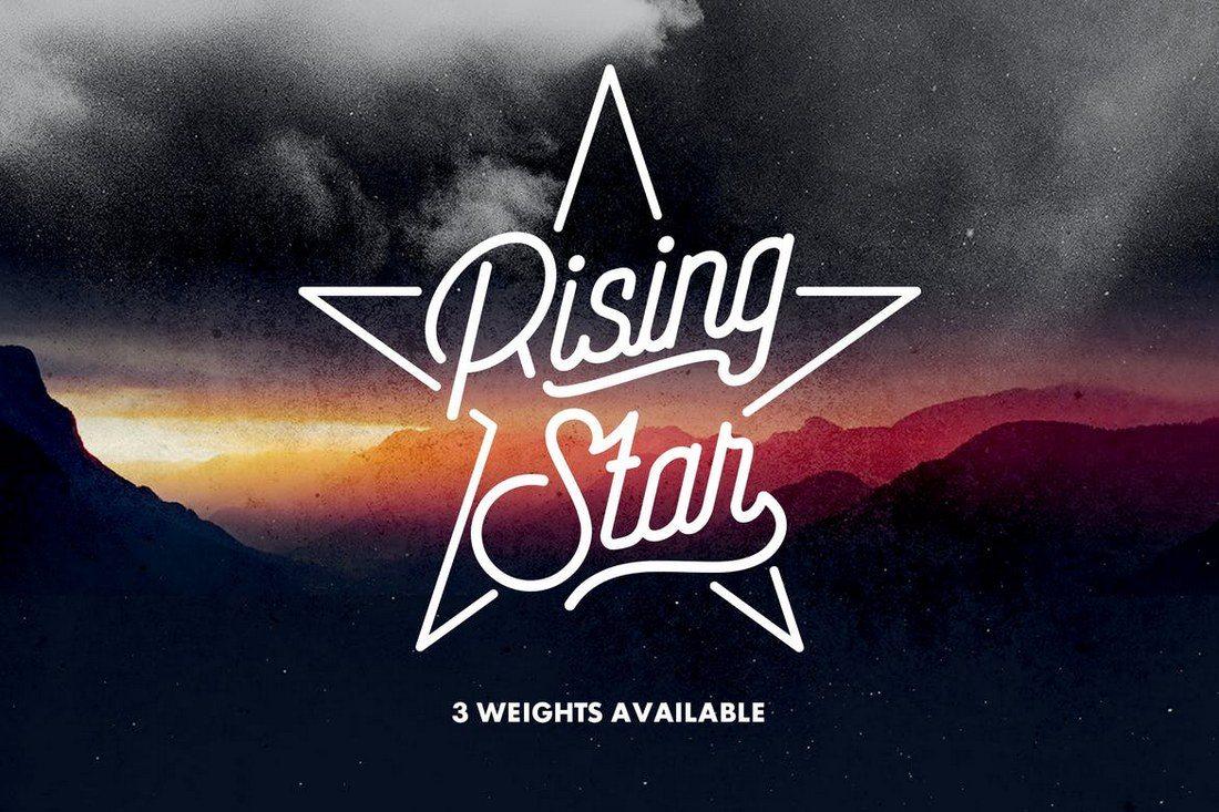 Rising-Star 25+ Best Monogram Fonts design tips