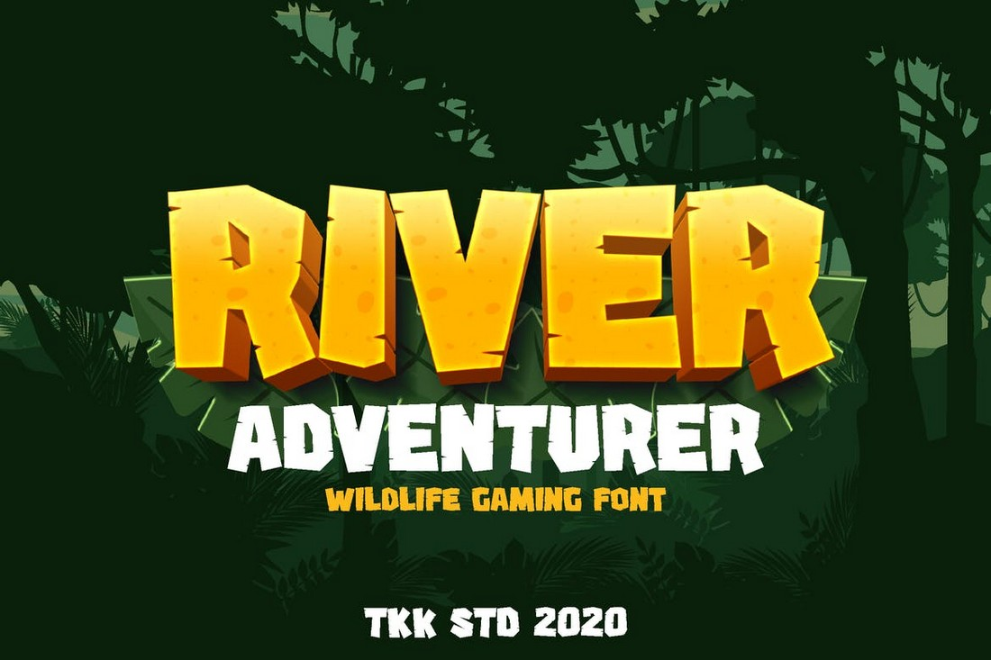 River Adventurer - Block Gaming Font