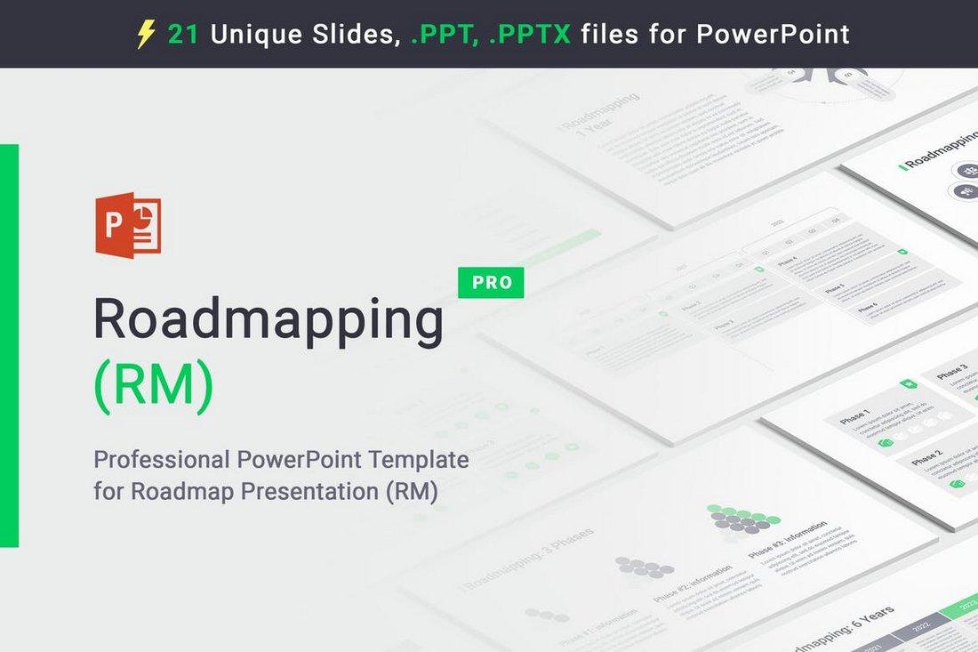 Roadmapping - PowerPoint Roadmap Template