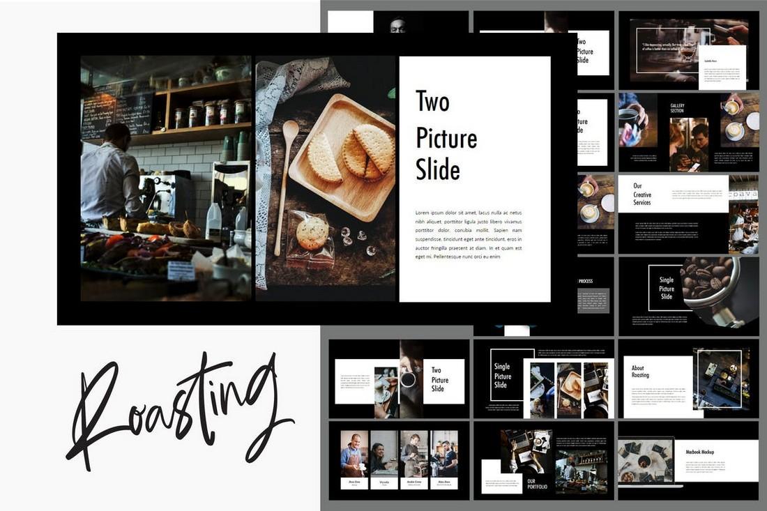 Roasting - Creative Dark Powerpoint Template