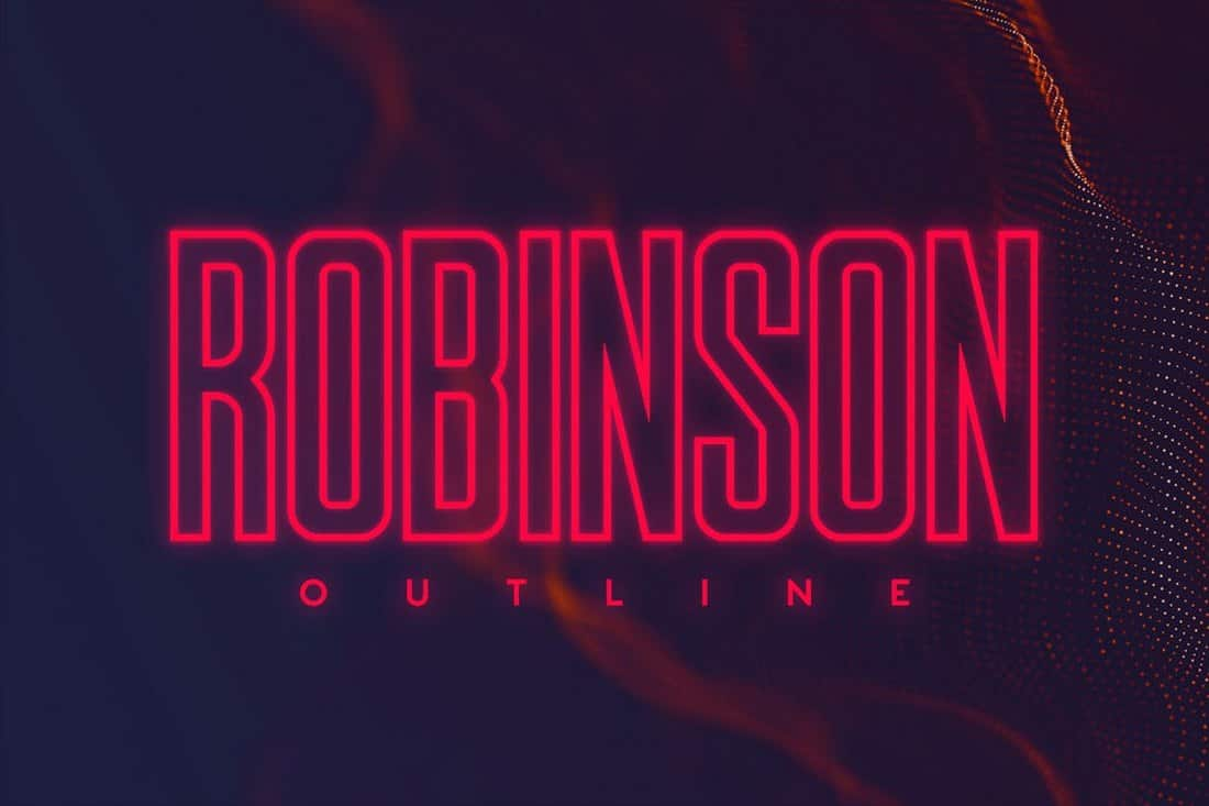 Robinson - Narrow Outline Font