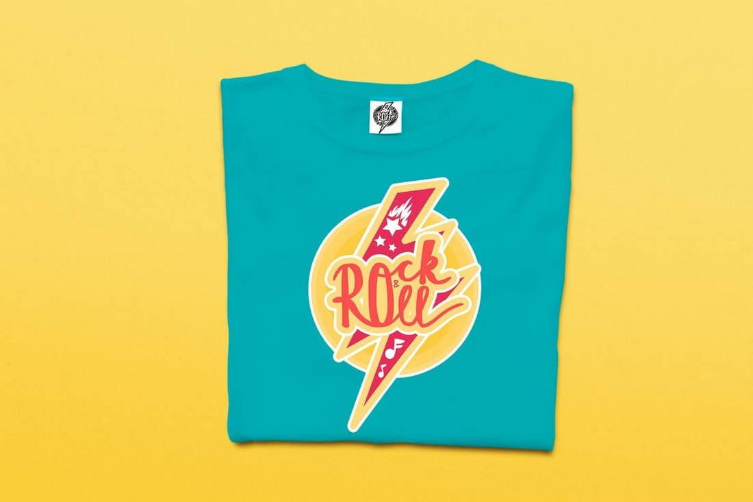 Rock-And-Roll-tshirt 10+ Creative T-Shirt Design Ideas (How to Design a T-Shirt) design tips