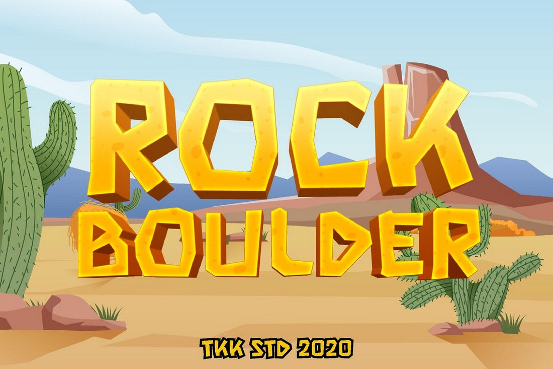 Rock Boulder - Gaming Font