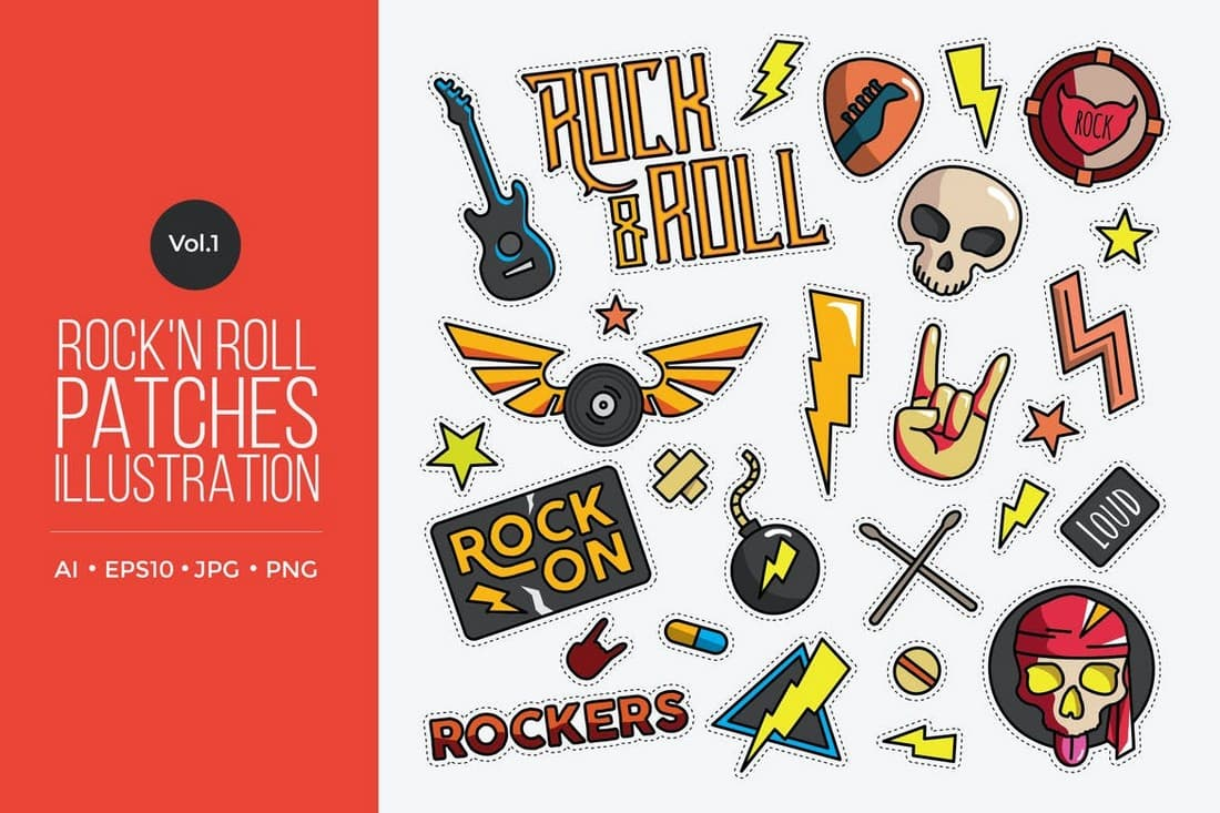Rock and Roll Creative Instagram Highlight Icons
