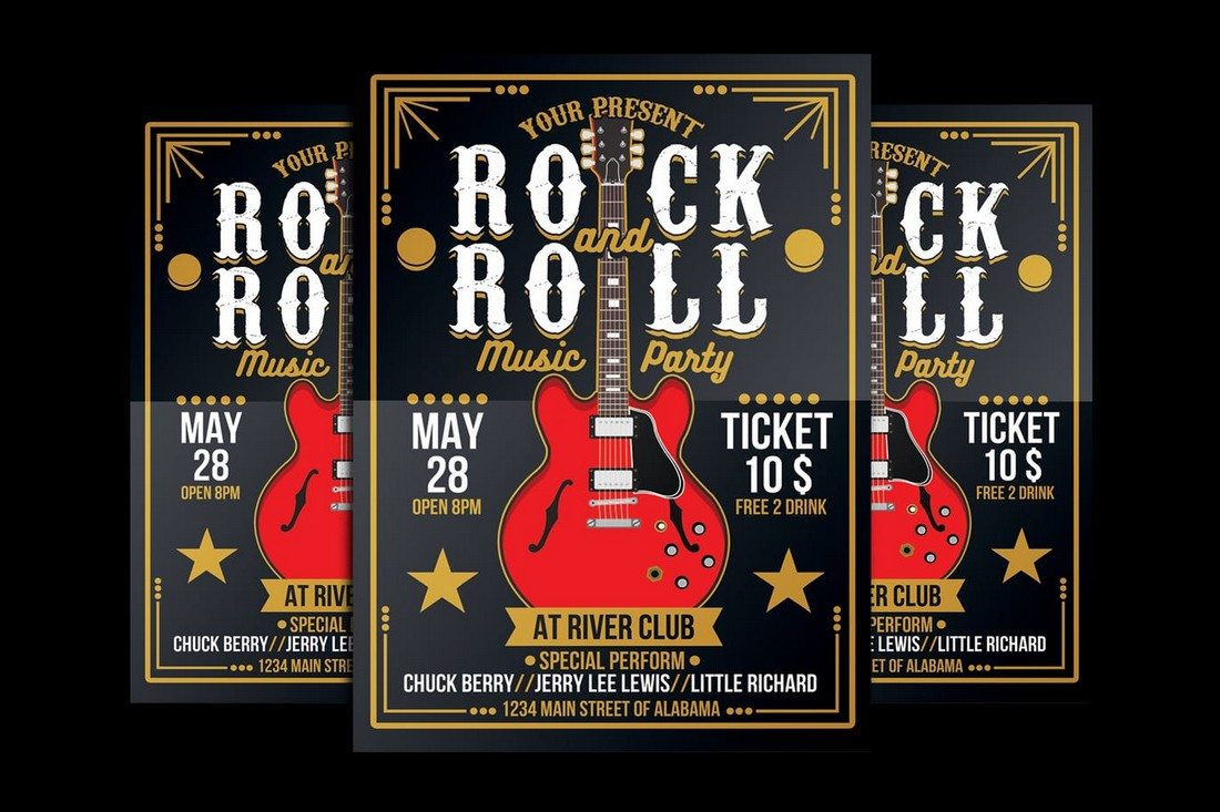 Rock-and-Roll-Music-Party 30+ Best Music & Band Flyer Templates design tips