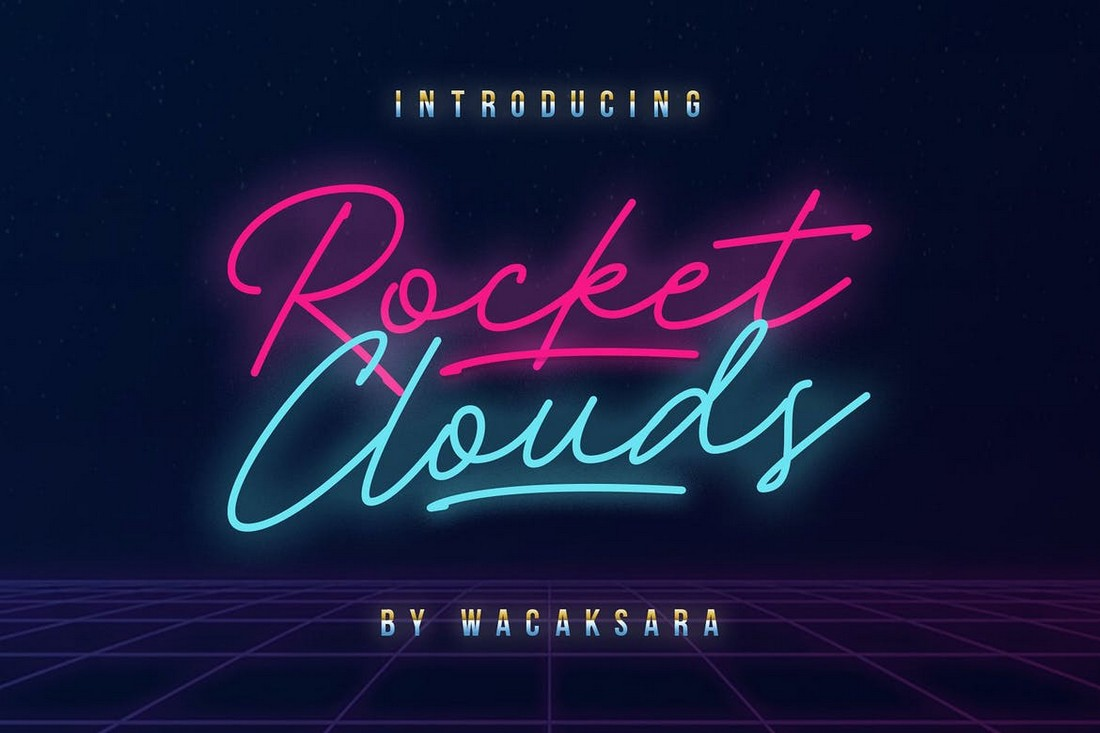 Rocket-Clouds-Monoline-Script-Retro-Font 25+ Best Retro Fonts in 2021 (Free & Premium) design tips