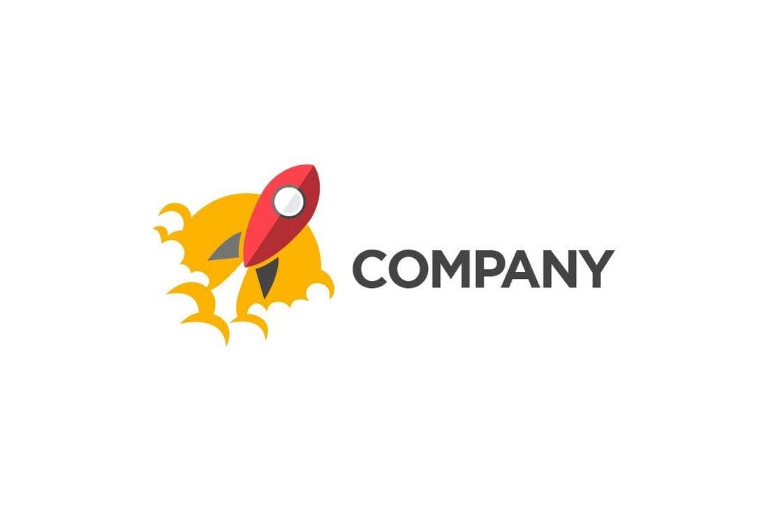 Rocket-Colorful-Logo 50+ Best Minimal Logo Design Templates design tips