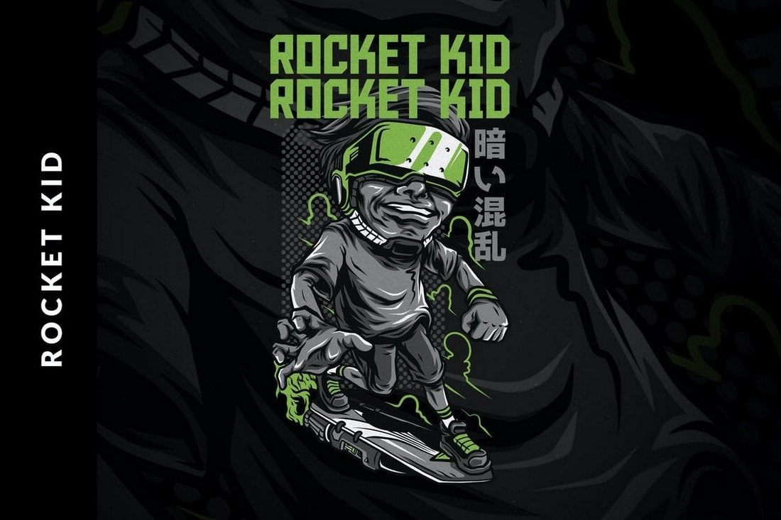 Rocket-Kid-T-Shirt-Design 10+ Creative T-Shirt Design Ideas (How to Design a T-Shirt) design tips