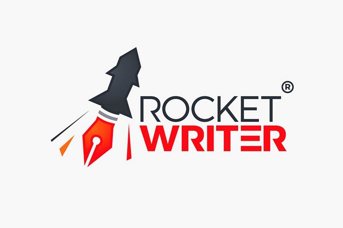 Rocket Writer - Free Creative Logo Template
