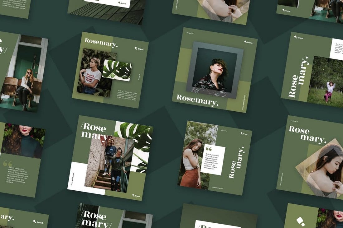 Roesmary-Social-Media-Templates-Pack 40+ Best Social Media Kit Templates & Graphics design tips