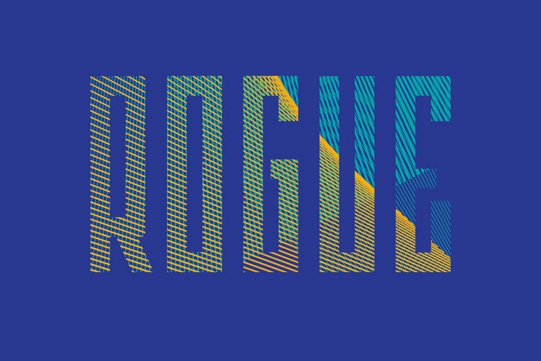 Rogue - Narrow Poster Font