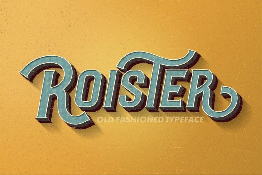 Roister - Creative Vintage Font