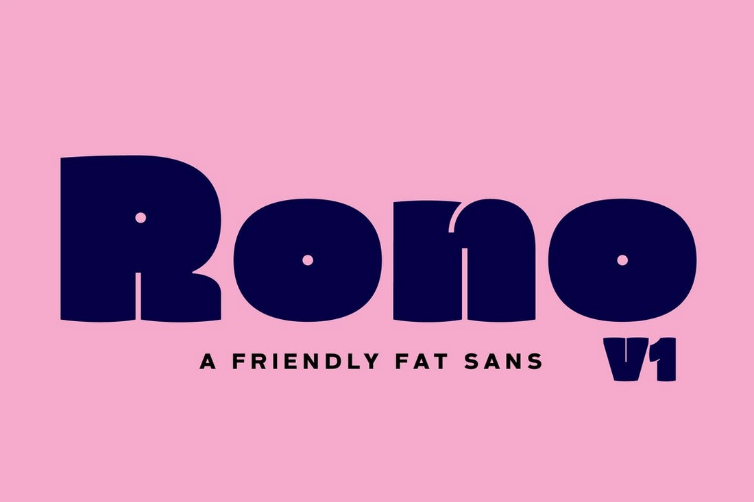 Rono - Fat Sans-Serif Font
