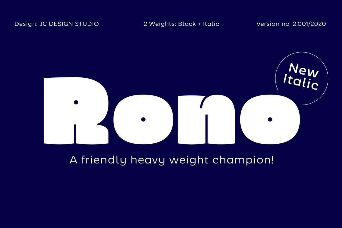 Rono - Modern Thick Font