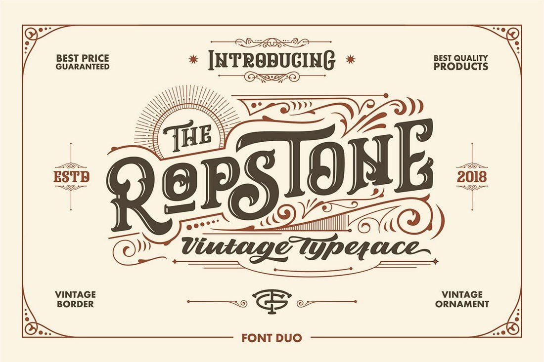 Ropstone - Free Tattoo Blackletter Font