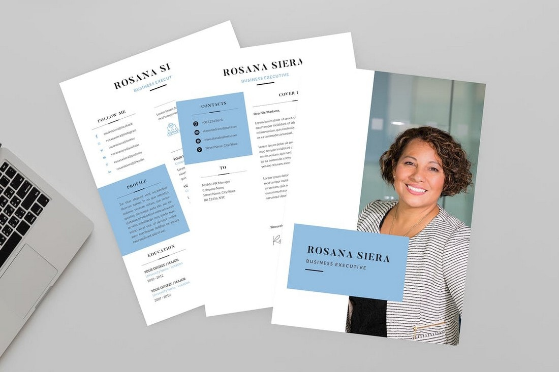Rosana-Corporate-Business-CV-Template 50+ Best CV & Resume Templates 2020 design tips