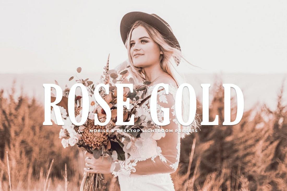 Rose Gold - Stylish Lightroom Mobile Presets