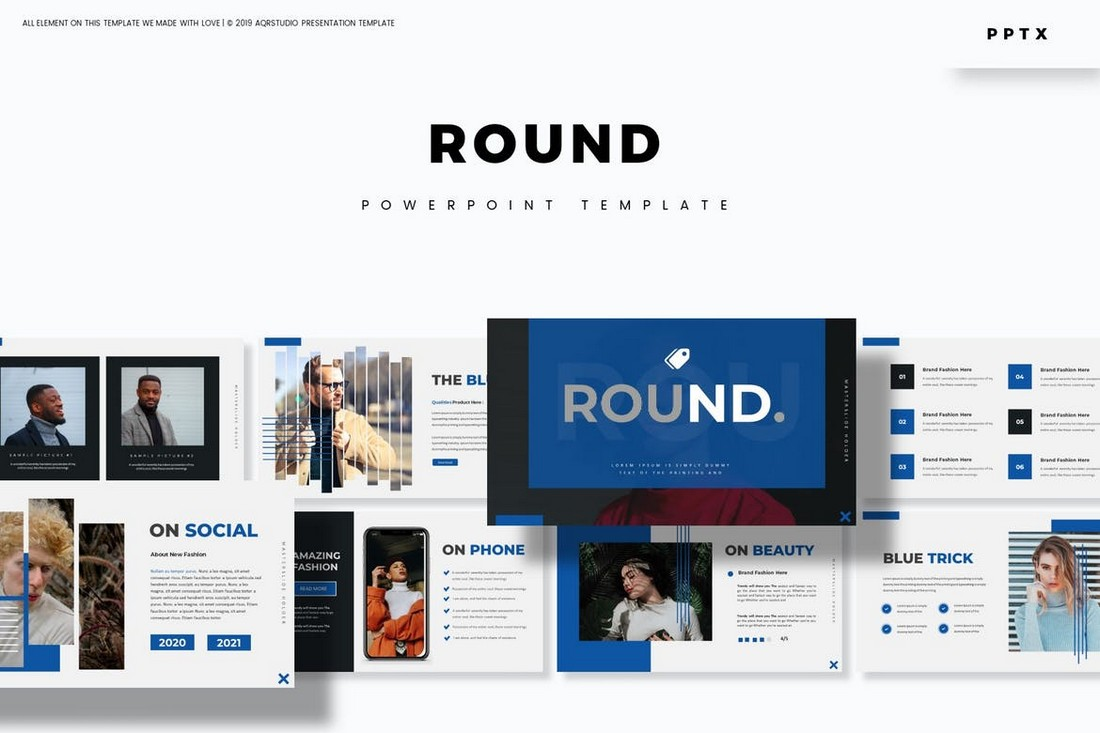 Round - Powerpoint Template