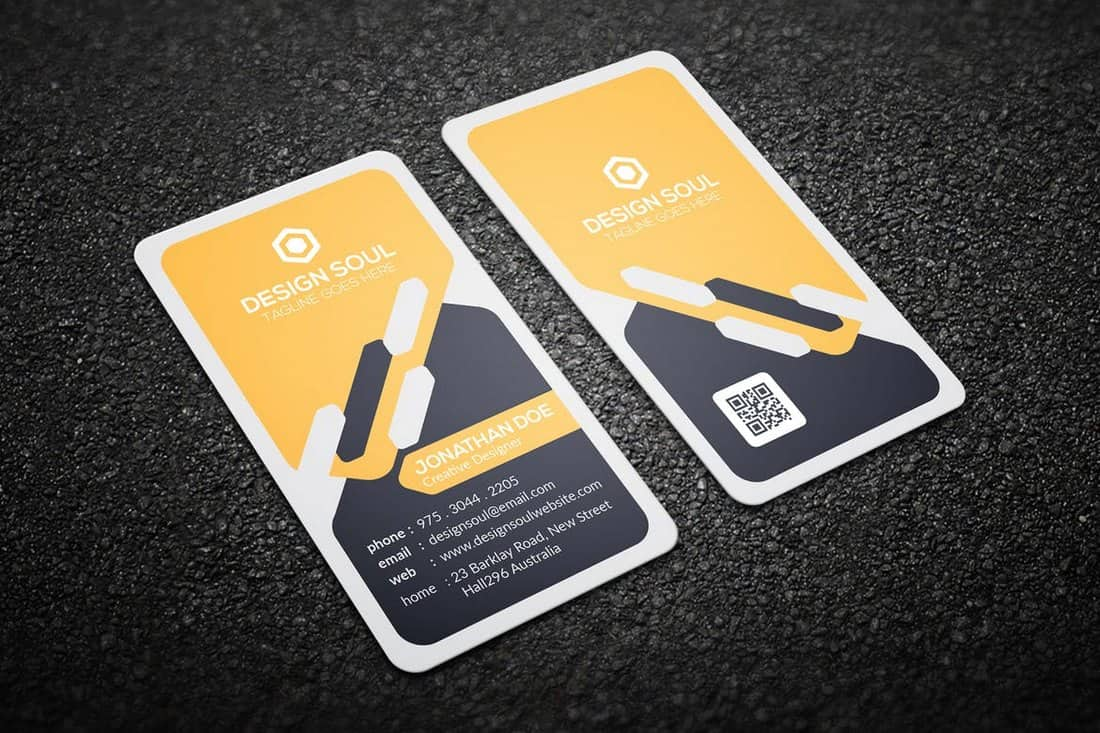Rounded Modern Business Card Template