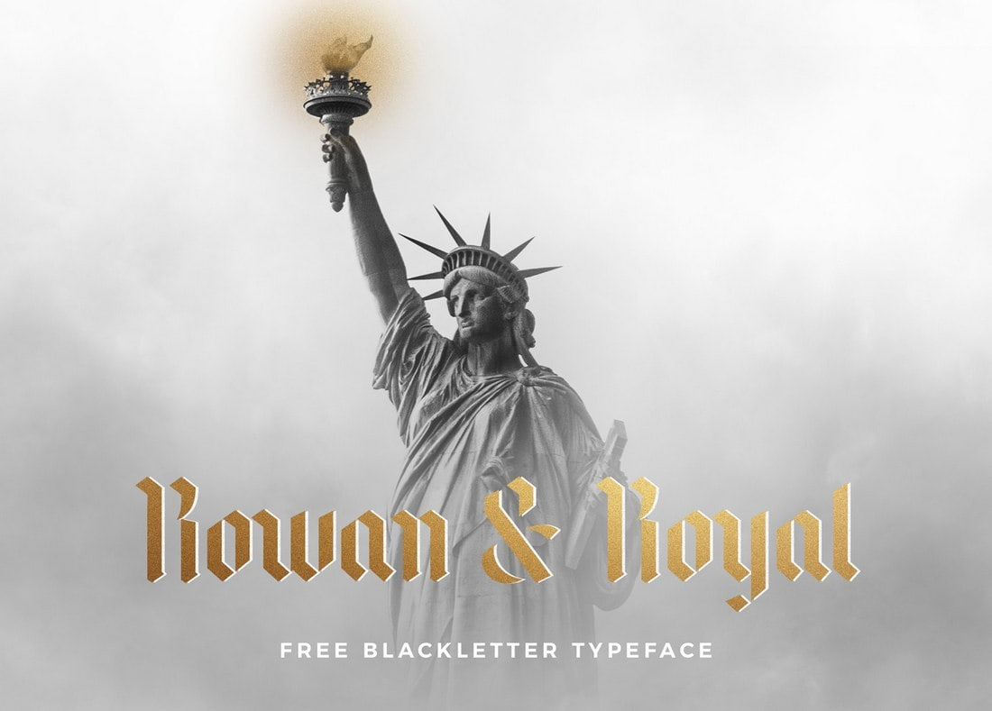Rowan & Royal - Fuente Blackletter Tattoo gratis