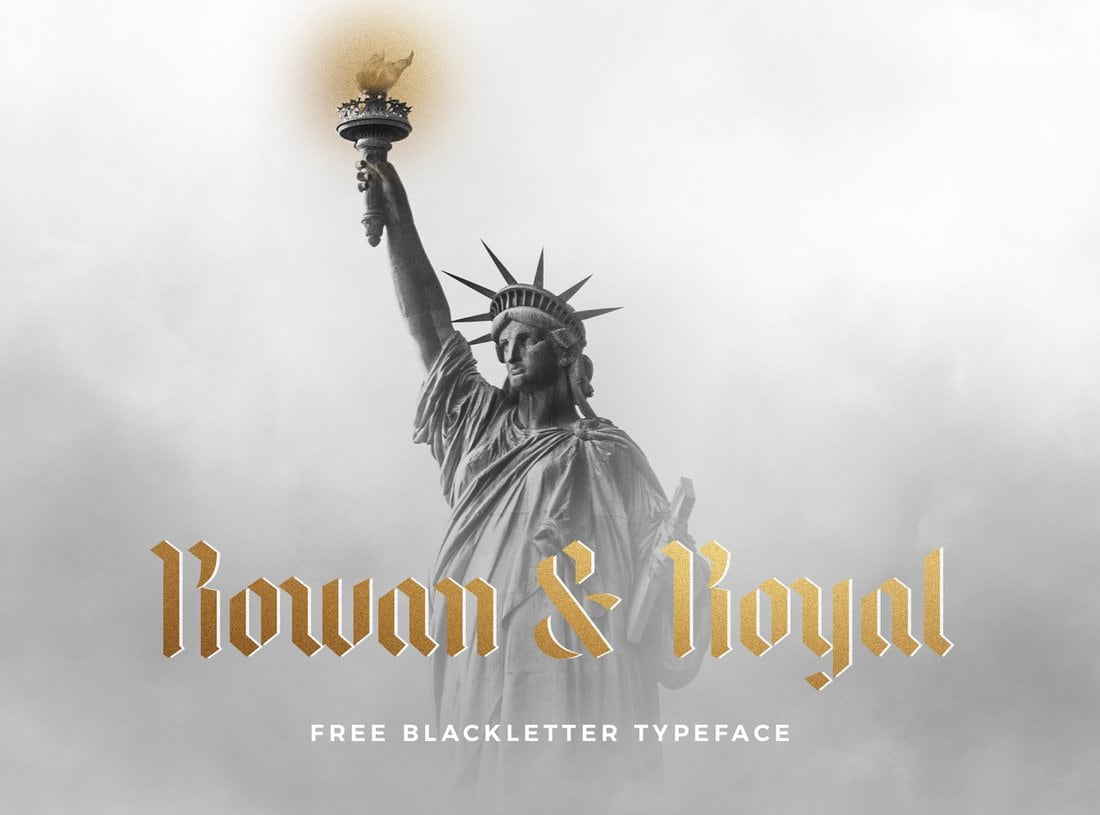 Rowan-Royal-Free-Gothic-Typeface 40+ Best Gothic Fonts design tips