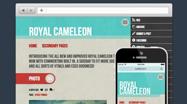 Royal-Cameleon-Free-Tumblr-Theme 50+ Best Free & Premium Tumblr Themes 2018 design tips