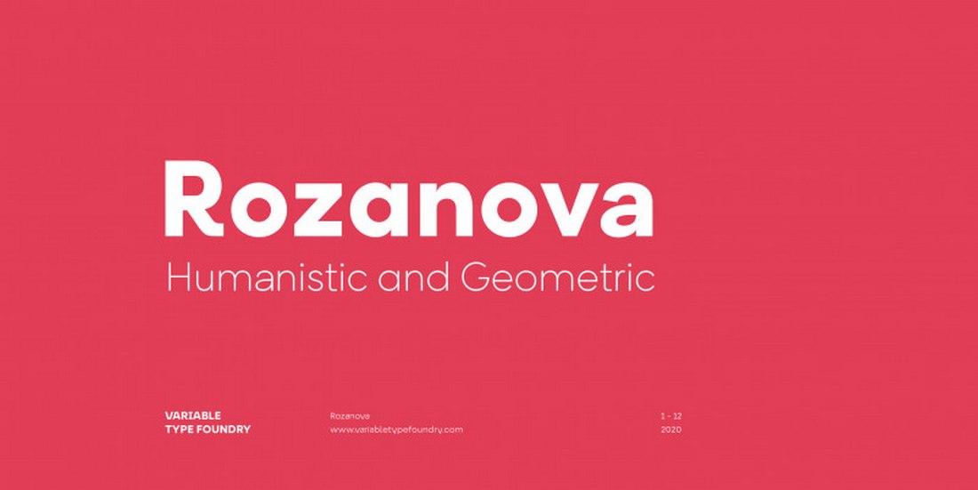 Rozanova - Free Clean Geometric Font