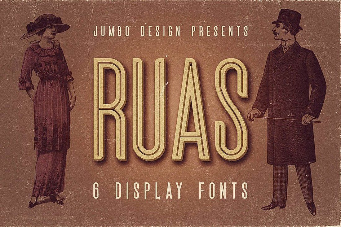 Ruas-Vintage-Style-Font 30+ Best Fonts for Logo Design design tips