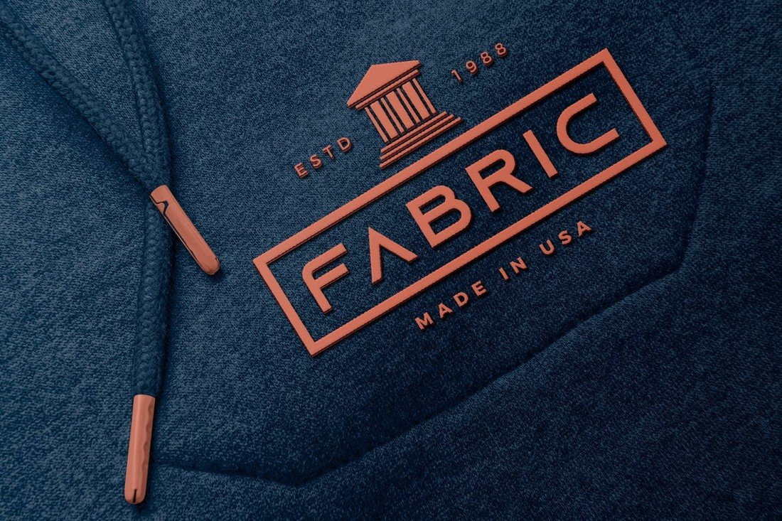 Rubber Logo on Fabric Mockup Template