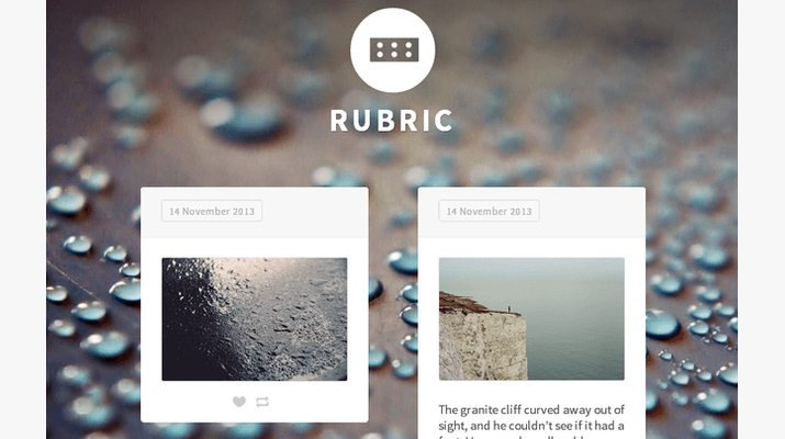Rubric-Free-Tumblr-Theme
