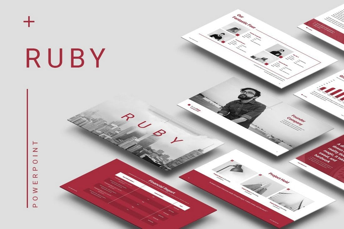 Ruby-Powerpoint-Template 20+ Modern Professional PowerPoint Templates design tips