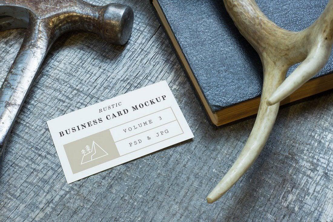 Rustic-Business-Card-Mockup-Vol.-3 70+ Corporate & Creative Business Card PSD Mockup Templates design tips