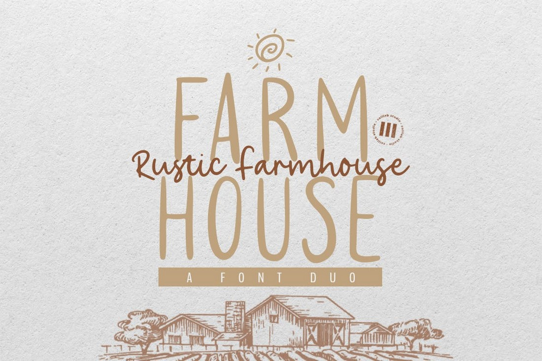 Rustic Farmhouse - Rustic Wedding Font