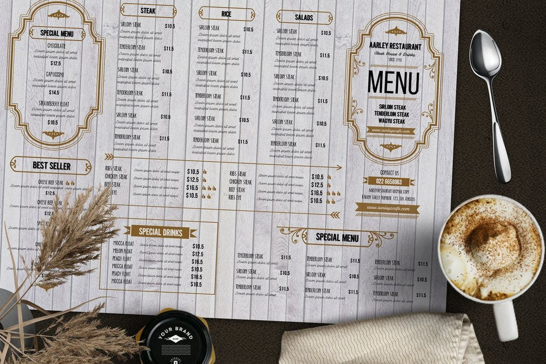 Rustic Food and Drink Menu Template