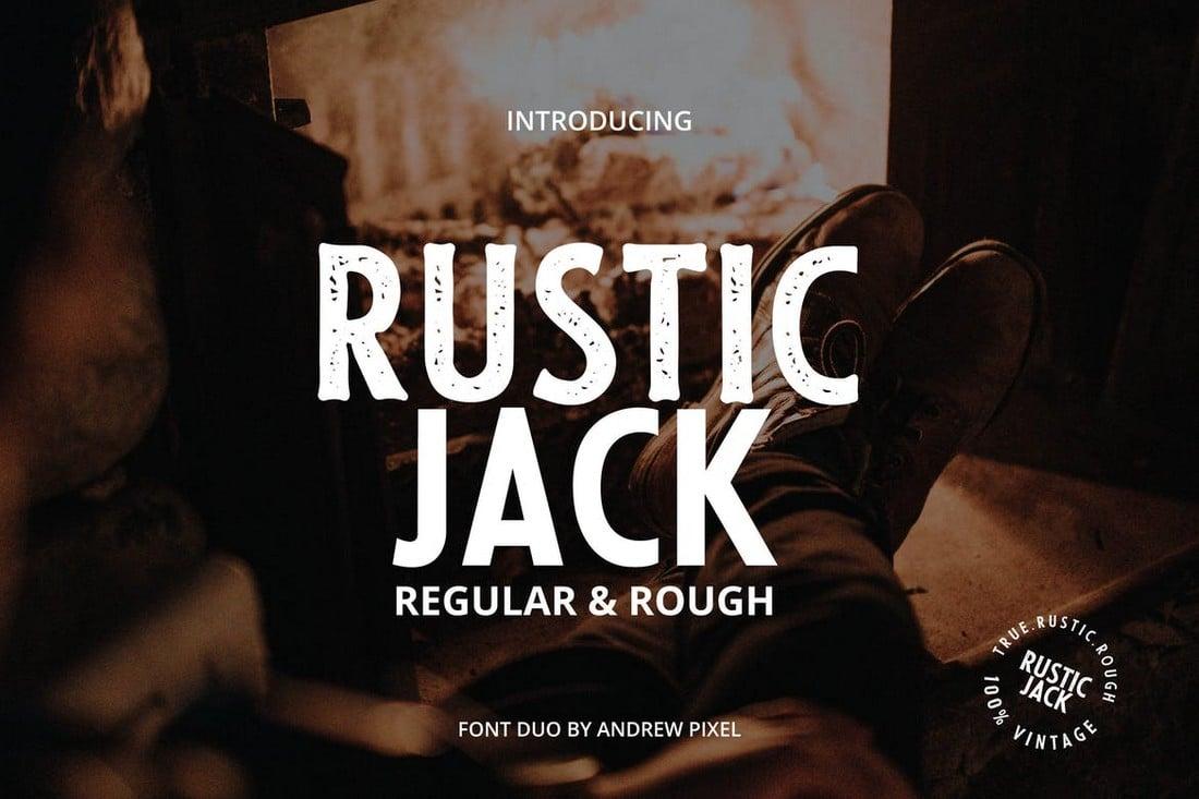 Rustic Jack - Vintage Font Duo