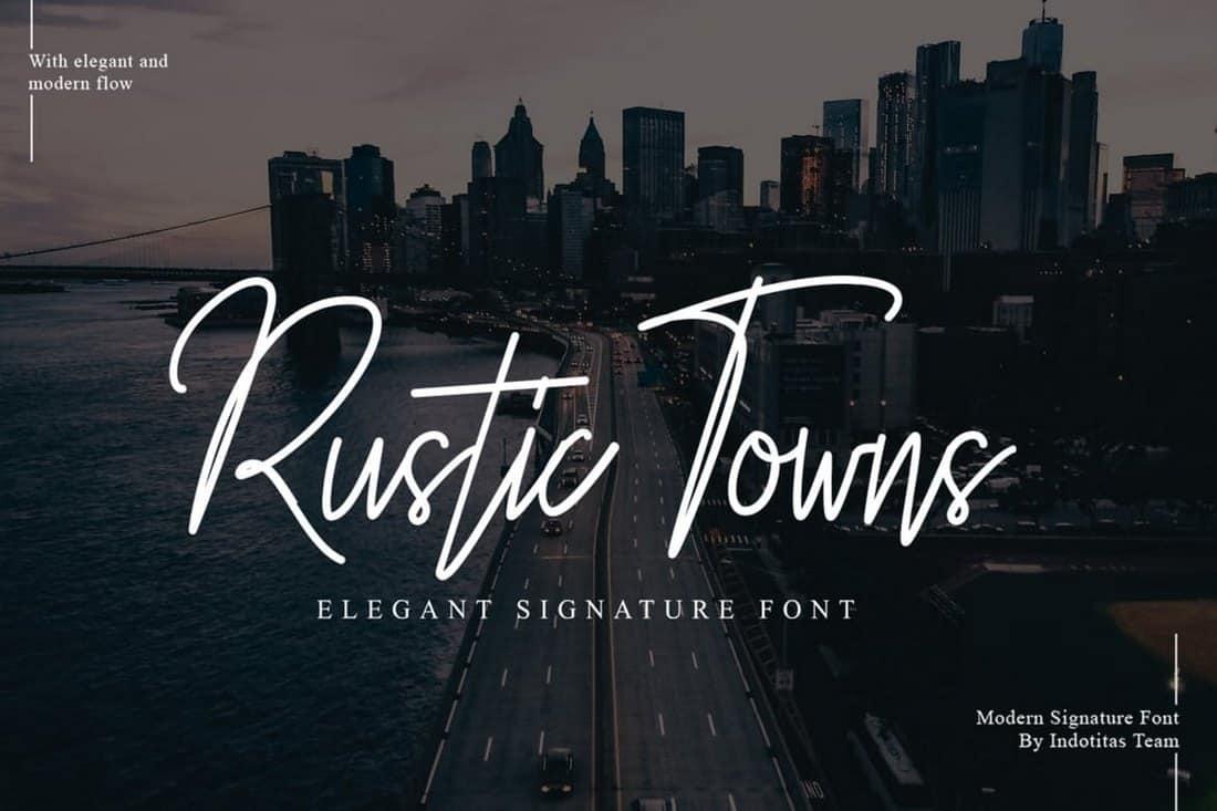 Rustic Towns Signature Font