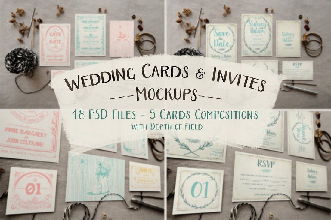 Rustic-Wedding-Invitation-Mockup 40+ Stunning Vintage Mockup Packs & Graphics design tips