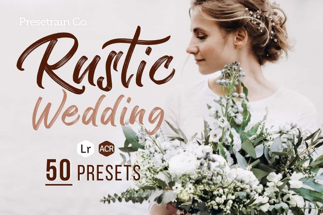 Presets de boda rústicos para Lightroom y Photoshop
