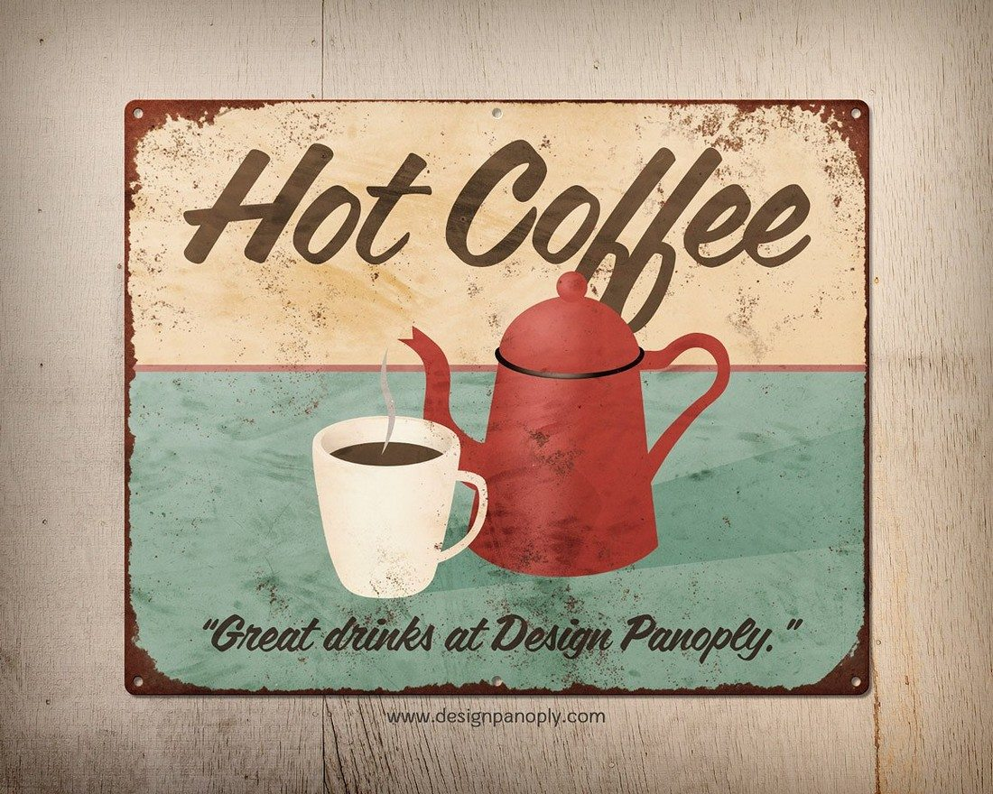 Rusty-Vintage-Tin-Sign-Templates 40+ Stunning Vintage Mockup Packs & Graphics design tips
