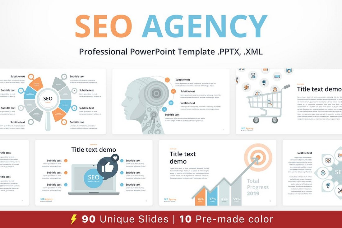 SEO-Agency-Animated-PowerPoint-Template 30+ Animated PowerPoint Templates (Free + Premium) design tips