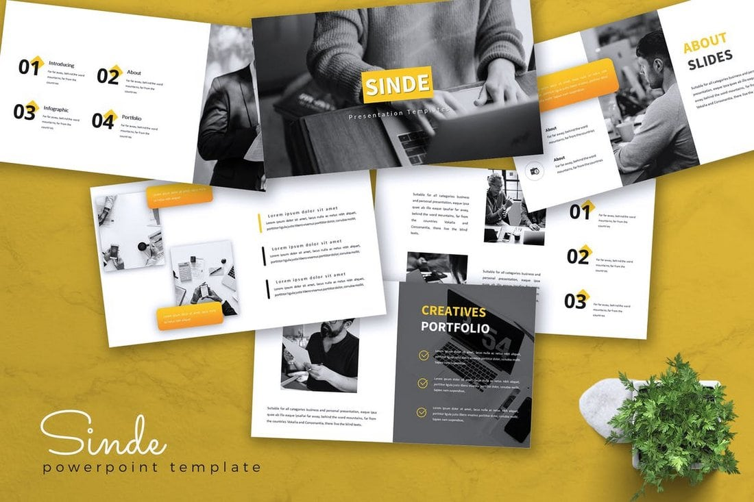 SINDE - Business Powerpoint Template