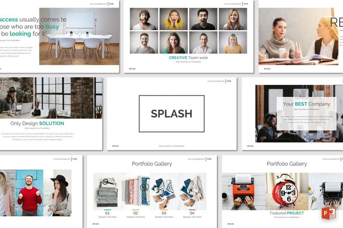 SPLASH-Powerpoint-Template 20+ Modern Professional PowerPoint Templates design tips
