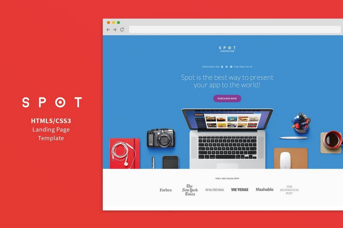 SPOT-App-Service-Landing-Page 50+ Best App Landing Page Templates 2021 design tips