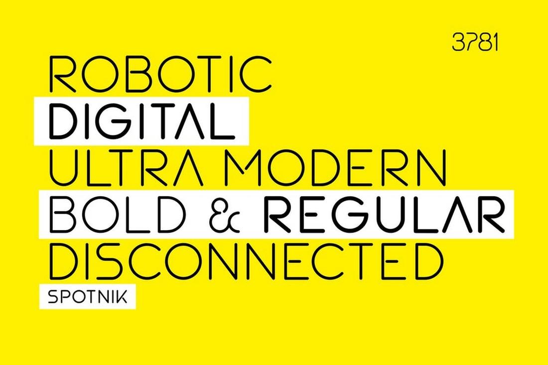 SPOTNIK - Ultra Modern Creative Font