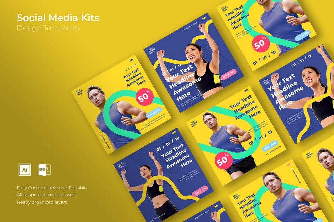 SRTP-Social-Media-Kit-Templates-2 20+ Best Social Media Kit Templates & Graphics design tips
