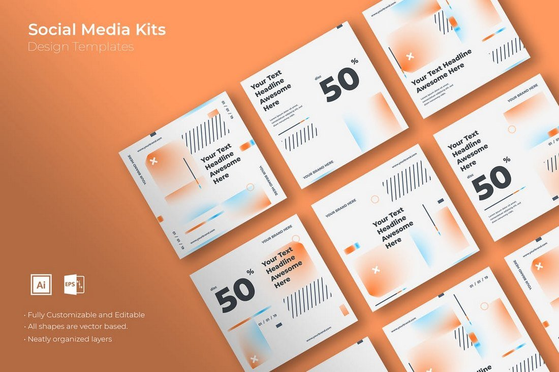 SRTP-Social-Media-Kit-Templates 20+ Best Social Media Kit Templates & Graphics design tips