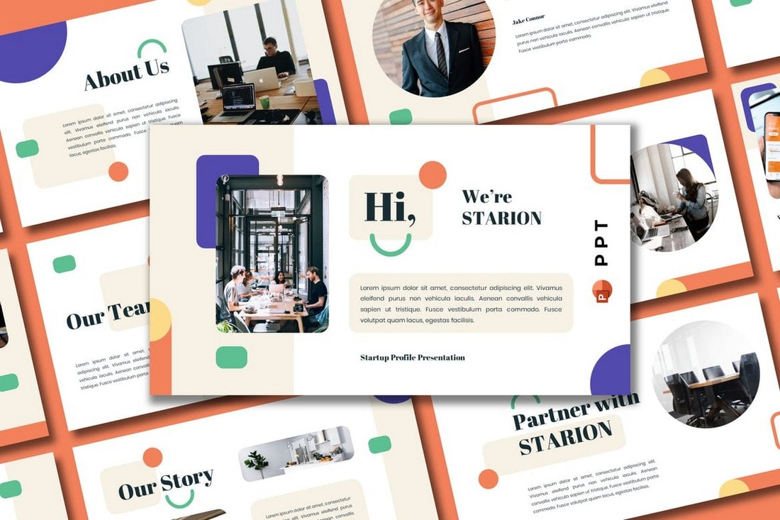 STARION-Startup-Profile-Powerpoint-Template 20+ Best Company Profile Templates (Word + PowerPoint) design tips  Inspiration|company profile
