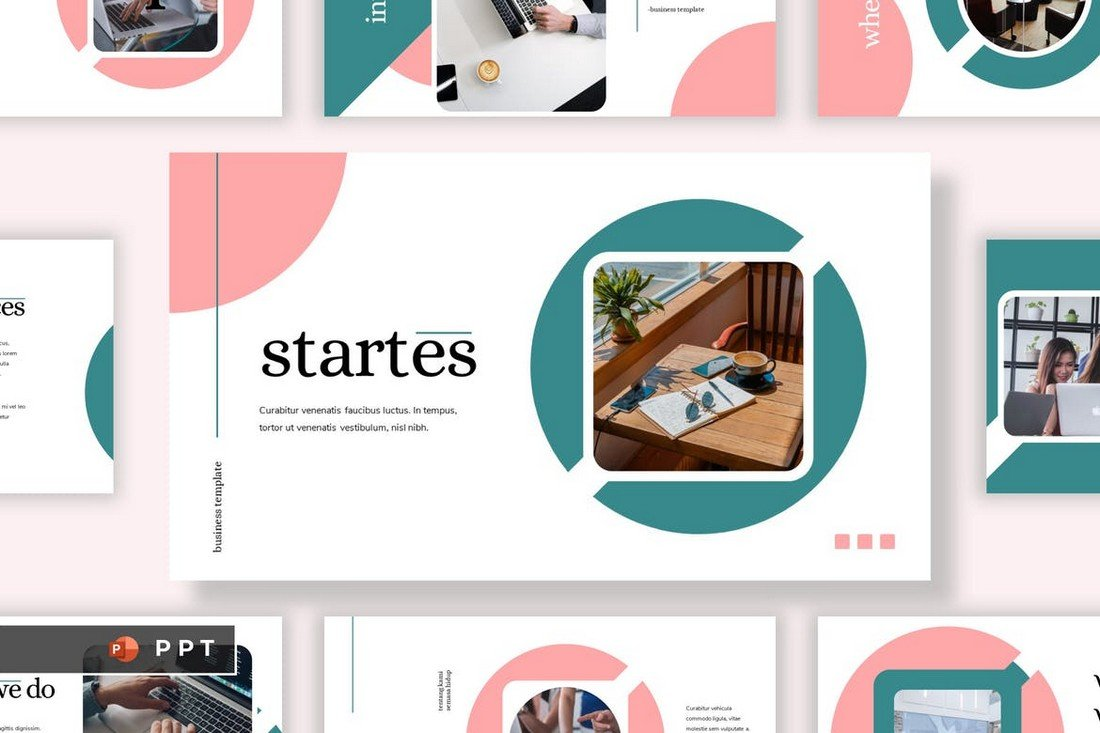 STARTES - Clean Professional Powerpoint Template